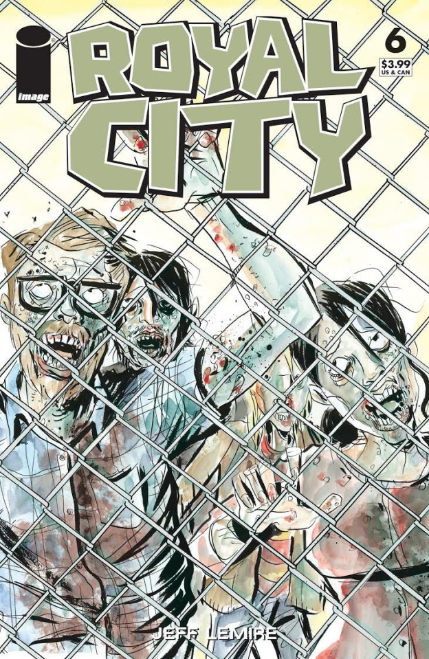 Royal City #6 (The Walking Dead #16 Tribute Cover)