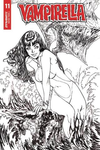 Vampirella #11 (35 Copy March B&W Virgin Cover)