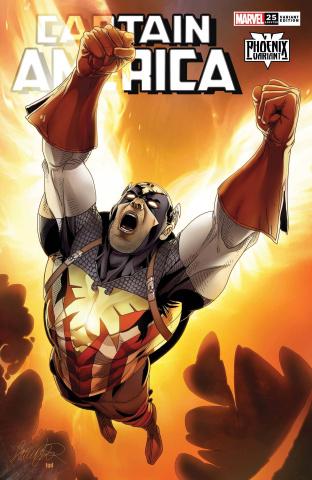 Captain America #25 (Larocca Captain America Phoenix Cover)