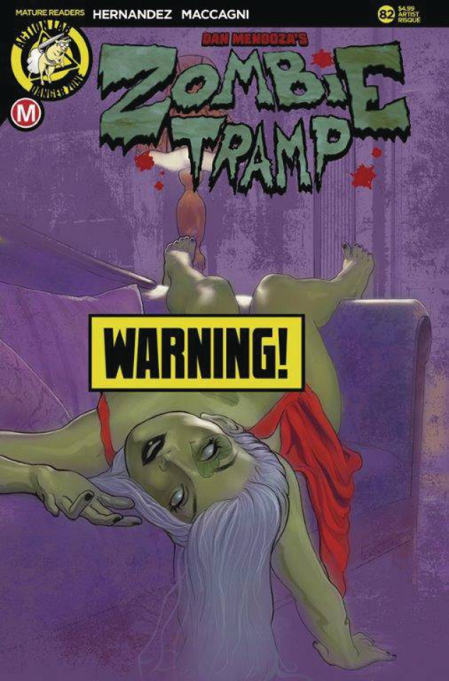 Zombie Tramp #82 (Andrew Herman Risque Cover)