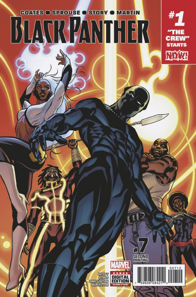 Black Panther #7 (2nd Printing Stelfreeze Cover)