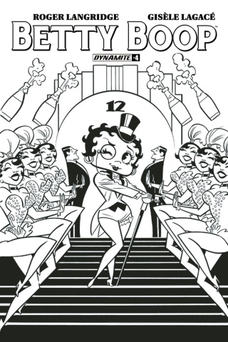 Betty Boop #4 (15 Copy Bone B&W Cover)