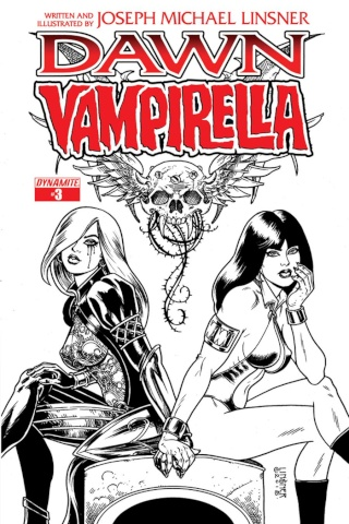 Dawn / Vampirella #3 (Rare Pure Line Art Ladies Cover)