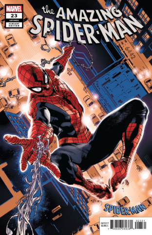 The Amazing Spider-Man #23 (Immonen Spider-Man Blue Red Suit Cover)