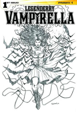 Legenderry: Vampirella #1 (25 Copy Davila B&W Cover)