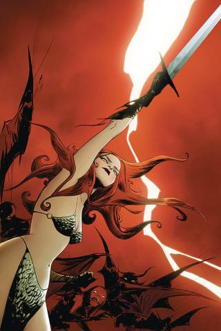 Vampirella / Red Sonja #8 (Lee Virgin Cover)