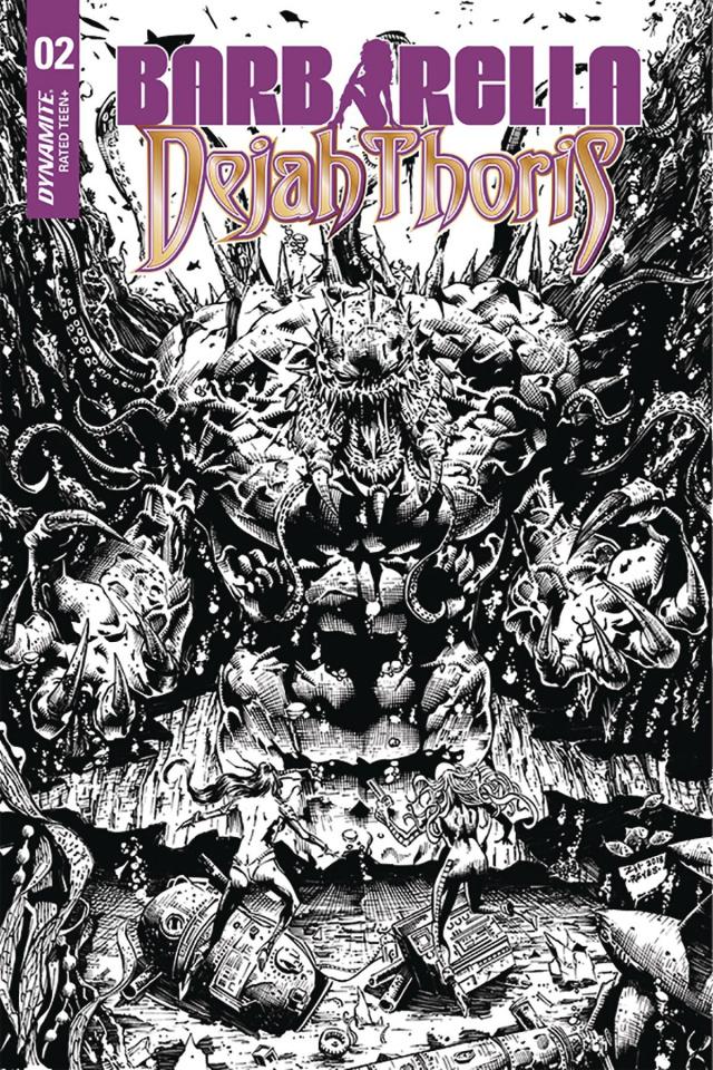 Barbarella / Dejah Thoris #2 (40 Copy Hsieh B&W Cover)