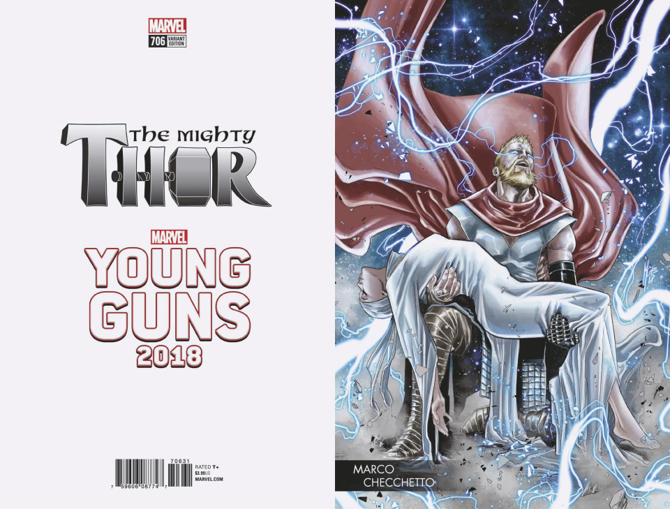 The Mighty Thor #706 (Checchetto Young Guns Cover)