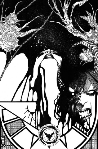 Vampirella vs. Purgatori #4 (11 Copy Fox B&W Virgin Cover)