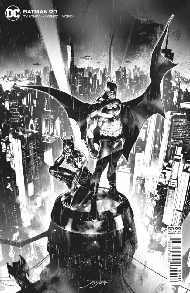 Batman #90 (Jorge Jimenez B&W 3rd Printing)
