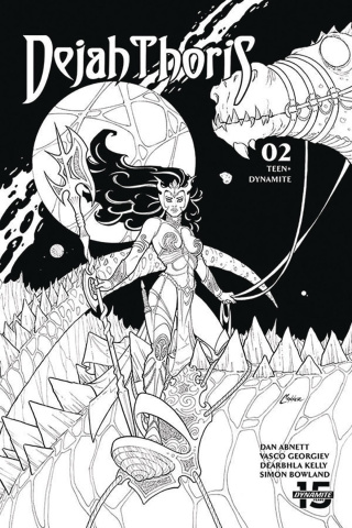 Dejah Thoris #2 (20 Copy Conner B&W Cover)