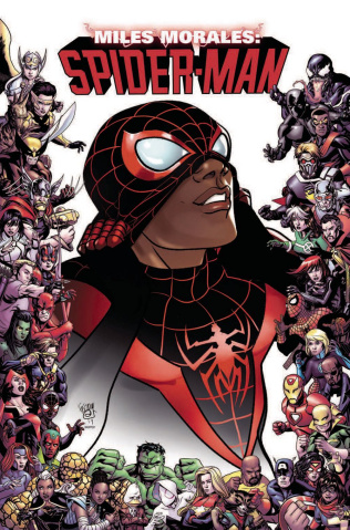 Miles Morales: Spider-Man #9 (Ferry Marvel 80th Anniversary Frame Cover)