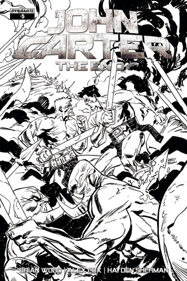 John Carter: The End #5 (10 Copy Brown B&W Cover)