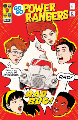 Go, Go, Power Rangers! #13 (Subscription Mok Cover)