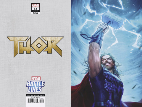 Thor #13 (Heejin Jeon Marvel Battle Lines Cover)