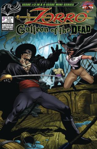 Zorro: Galleon of the Dead #3 (Martinez Cover)