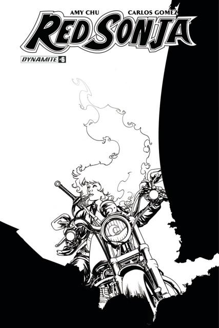 Red Sonja #7 (20 Copy McKone B&W Cover)