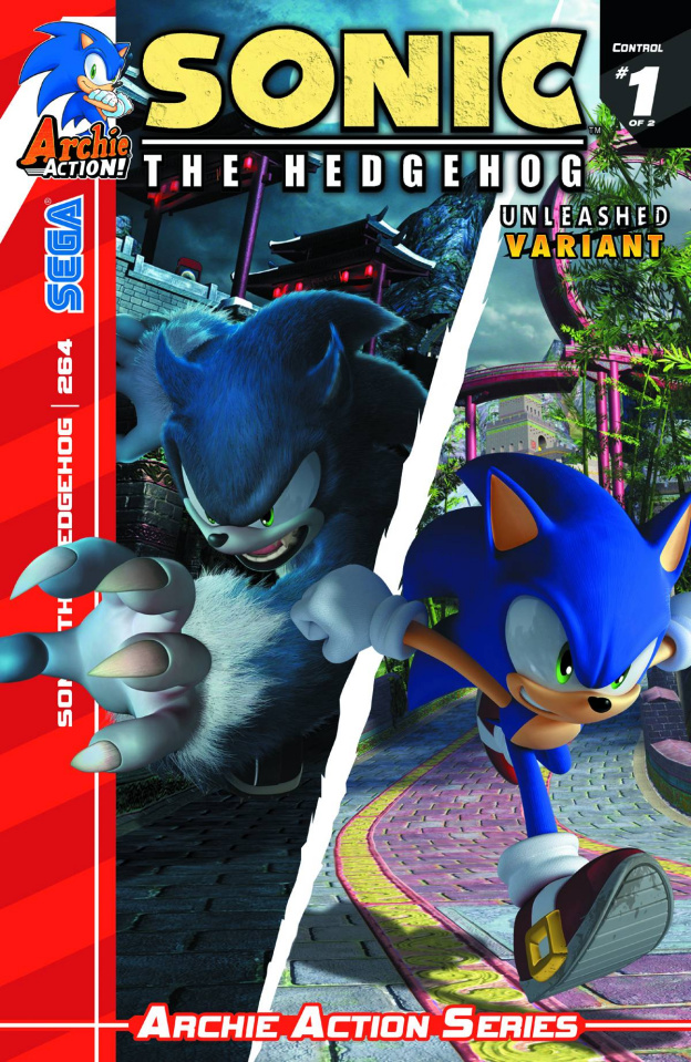 Sonic the Hedgehog #264 (Unleashed Cover)
