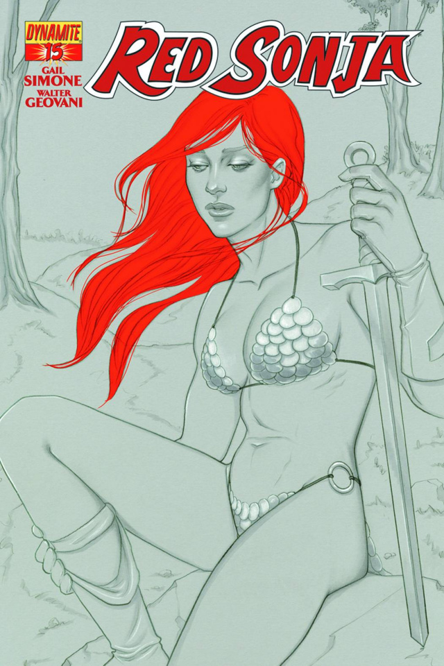 Red Sonja #15 (15 Copy Frison B&W Cover)
