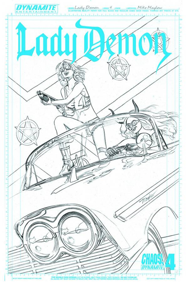 Lady Demon #4 (25 Copy Mayhew Artboard Cover)