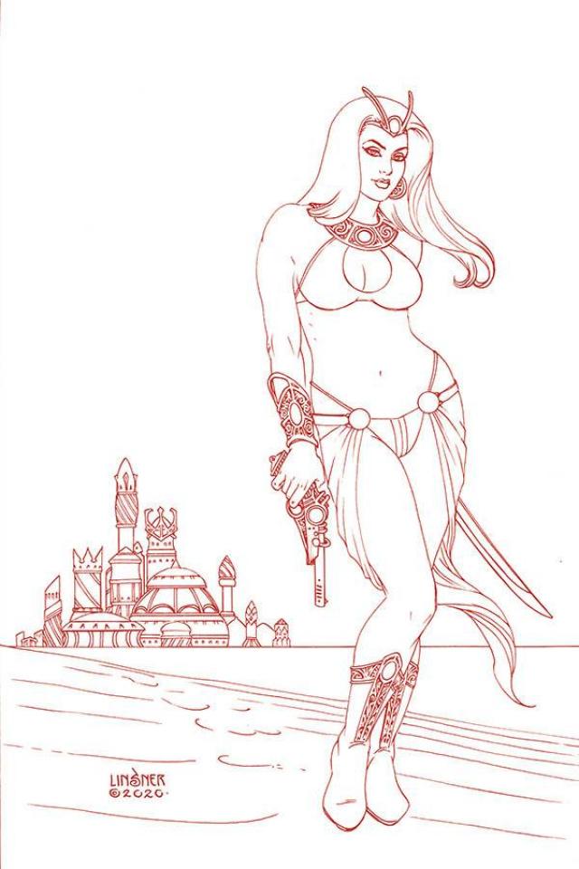 Dejah Thoris #6 (Linsner Rare Martian Red Cover)
