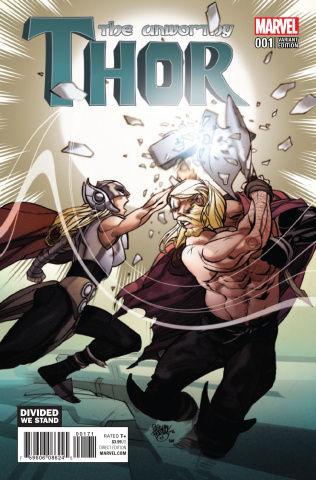 The Unworthy Thor #1 (Divided We Stand Cover)