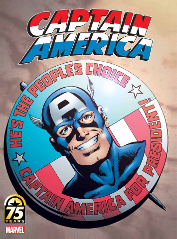 Captain America: 75th Anniversary Magazine #1 (Byrne Cover)