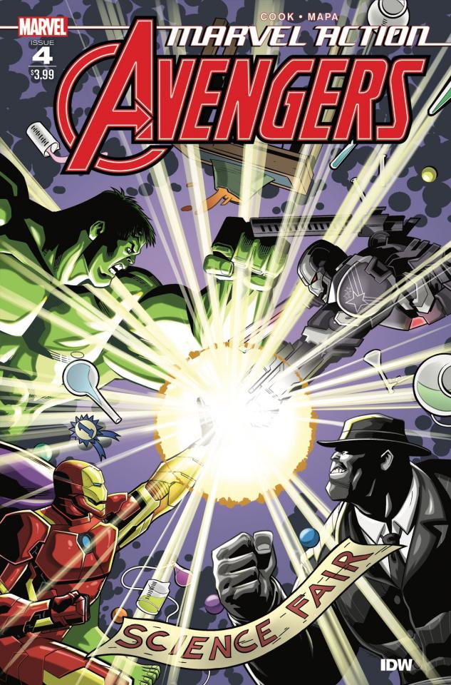 Marvel Action: Avengers #4 (Mapa Cover)