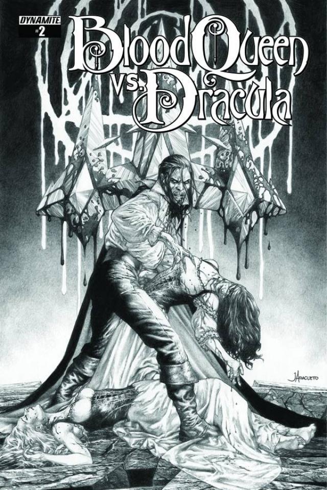 Blood Queen vs. Dracula #2 (10 Copy Anacleto B&W Cover)
