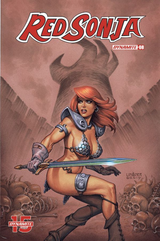 Red Sonja #8 (Linsner Cover)