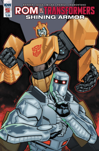 ROM vs. The Transformers: Shining Armor #5 (Messina Cover)