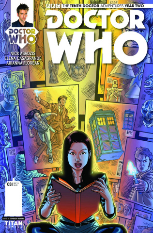 Doctor Who: New Adventures with the Tenth Doctor, Year Two #3 (Romero Cover)