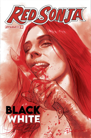 Red Sonja: Black, White, Red #4 (10 Copy Parrillo Tint Cover)
