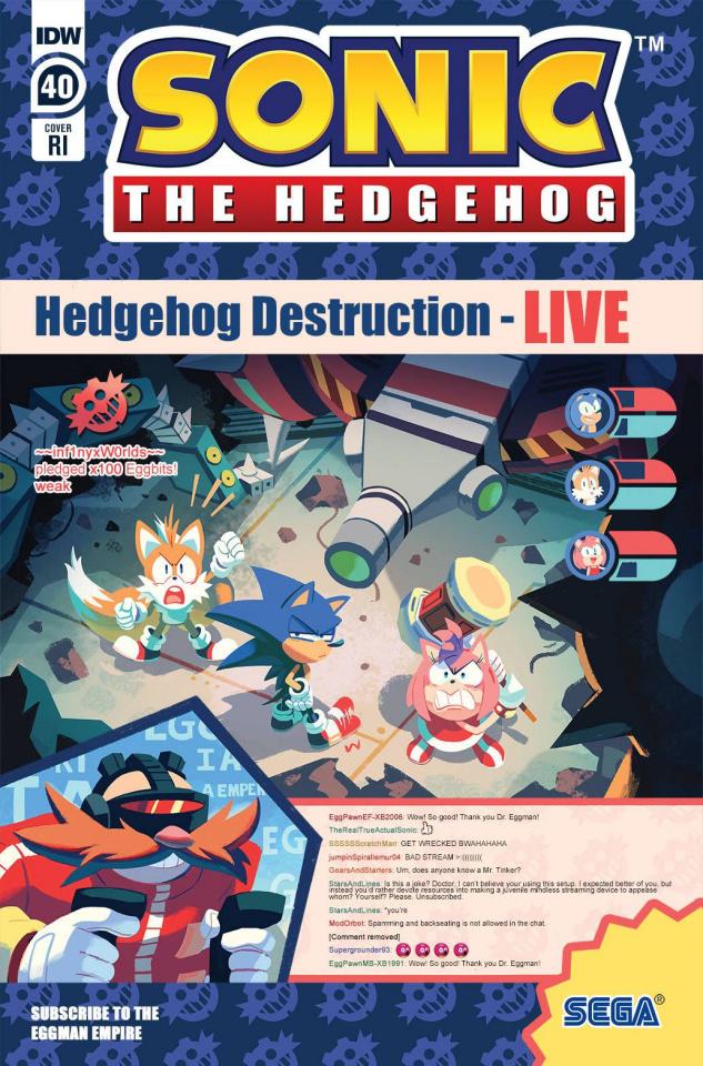 Sonic the Hedgehog #40 (10 Copy Fourdraine Cover)