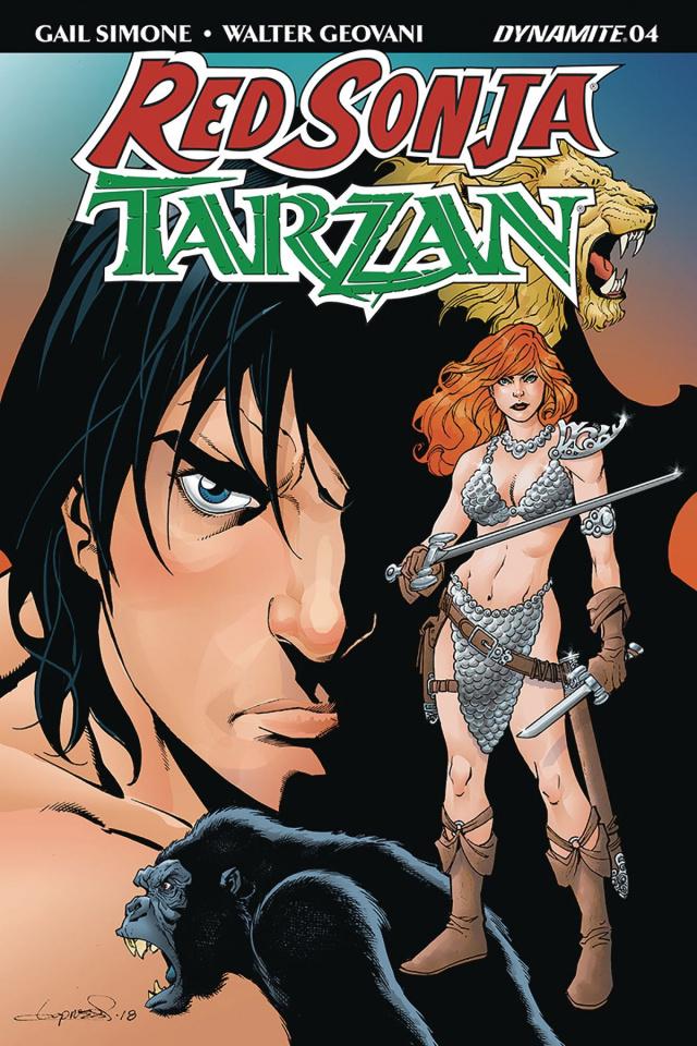 Red Sonja / Tarzan #4 (Lopresti Cover)