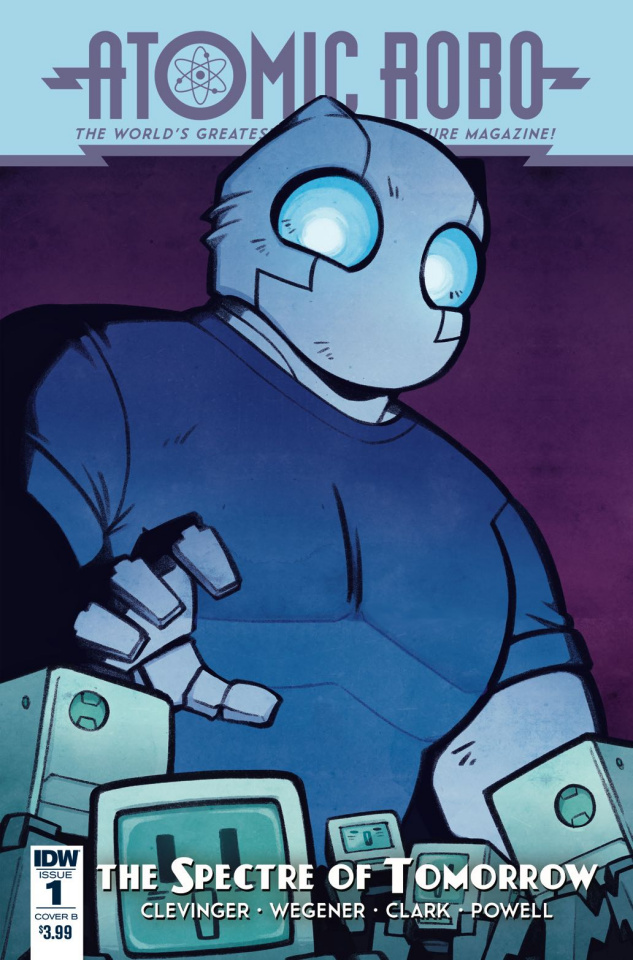 Atomic Robo: The Spectre of Tomorrow #1 (Wiedle Cover)