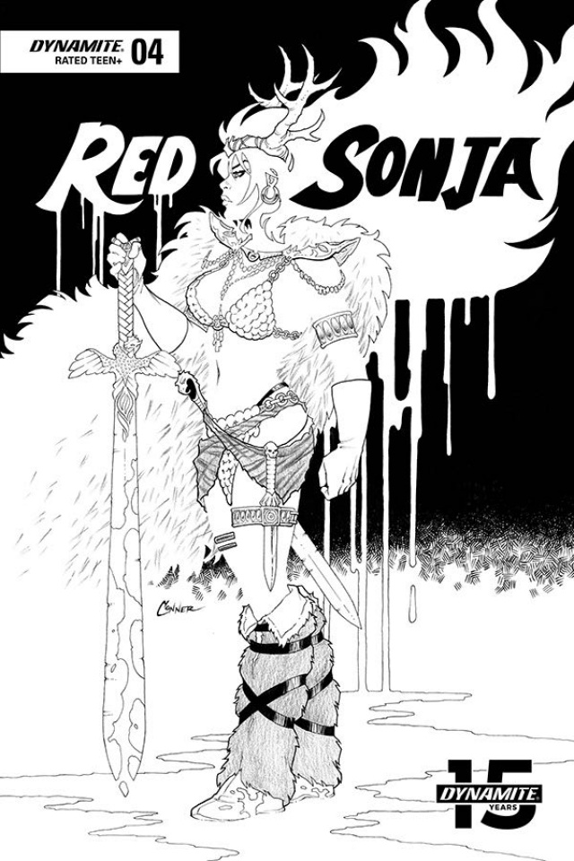 Red Sonja #4 (20 Copy Conner B&W Cover)