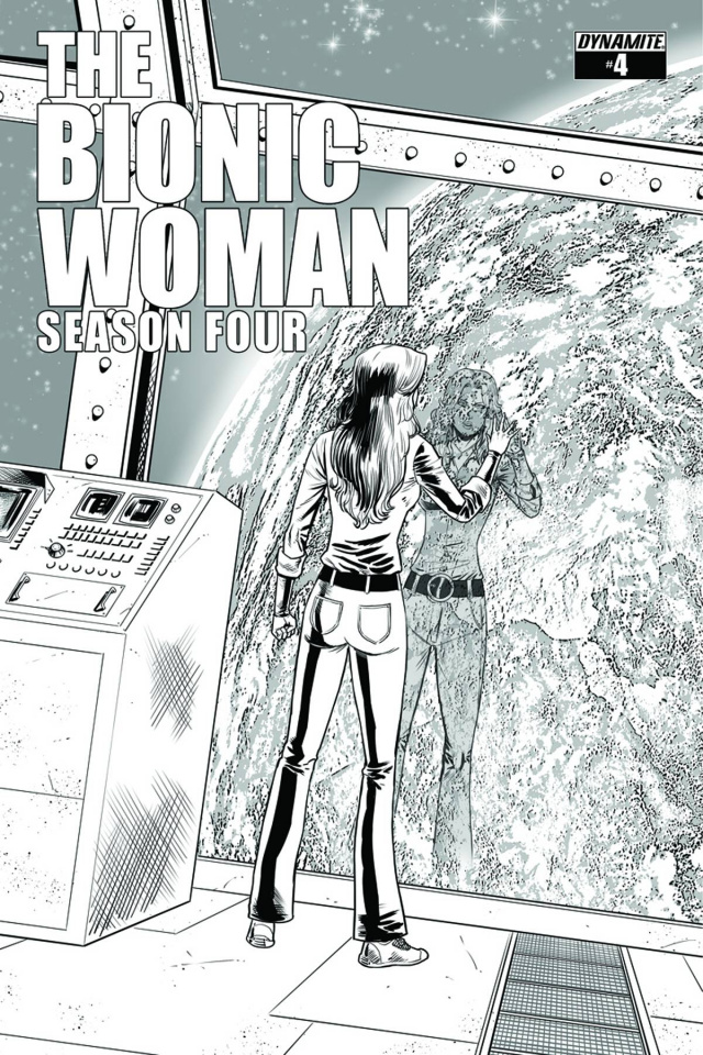The Bionic Woman, Season Four #4 (15 Copy Cabrera B&W Cover)
