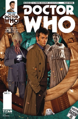 Doctor Who: New Adventures with the Tenth Doctor, Year Three #4 (Photo Cover)