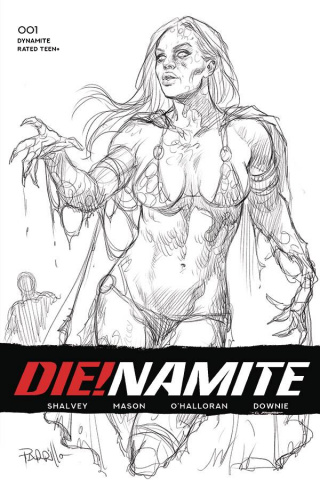 DIE!namite #1 (50 Copy Parrillo B&W Cover)