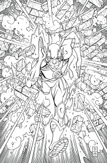 The Flash #48 (Adult Coloring Book Cover)