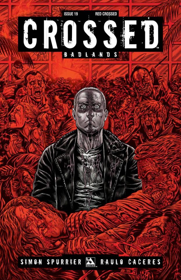 Crossed: Badlands #19 (Red Crossed Cover)