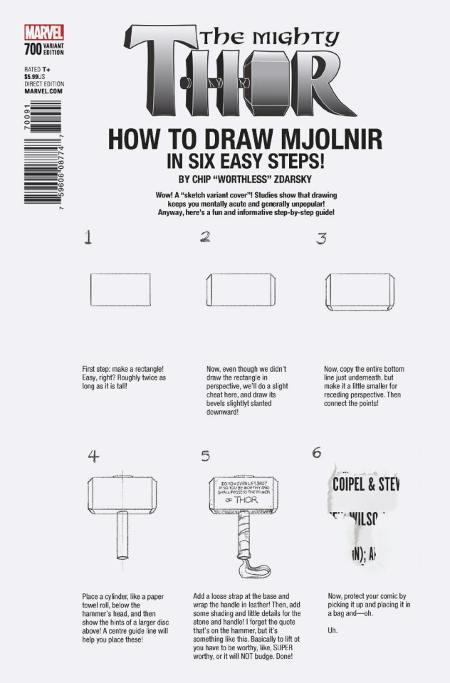 The Mighty Thor #700 (Zdarsky How To Draw Cover)