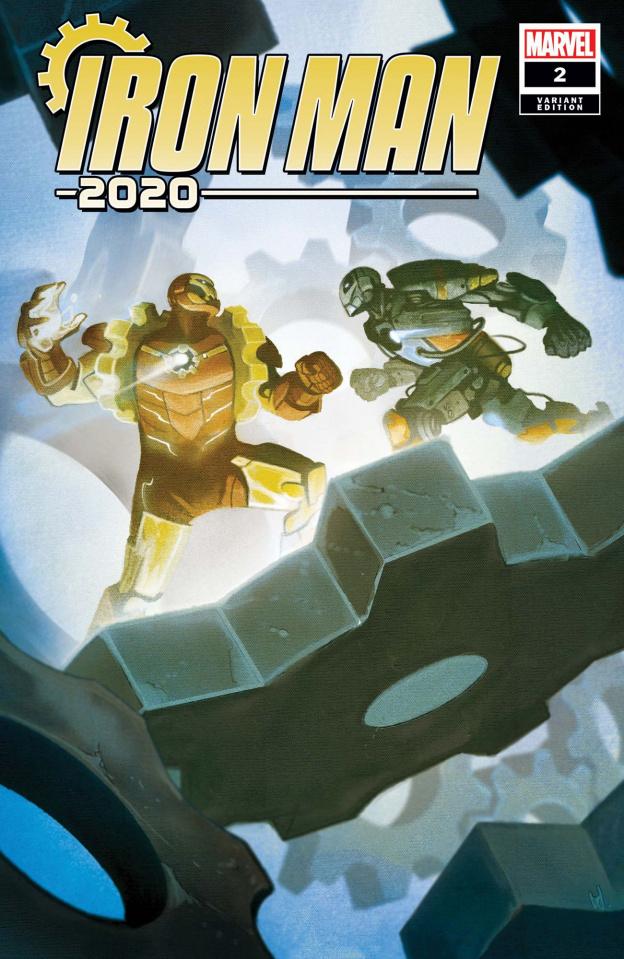 Iron Man 2020 #2 (Del Mundo Cover)