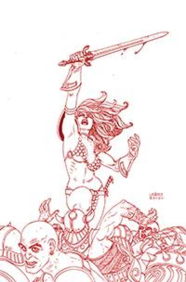 Red Sonja: The Price of Blood #1 (Linsner Crimson Red Line Art Virgin Cover)