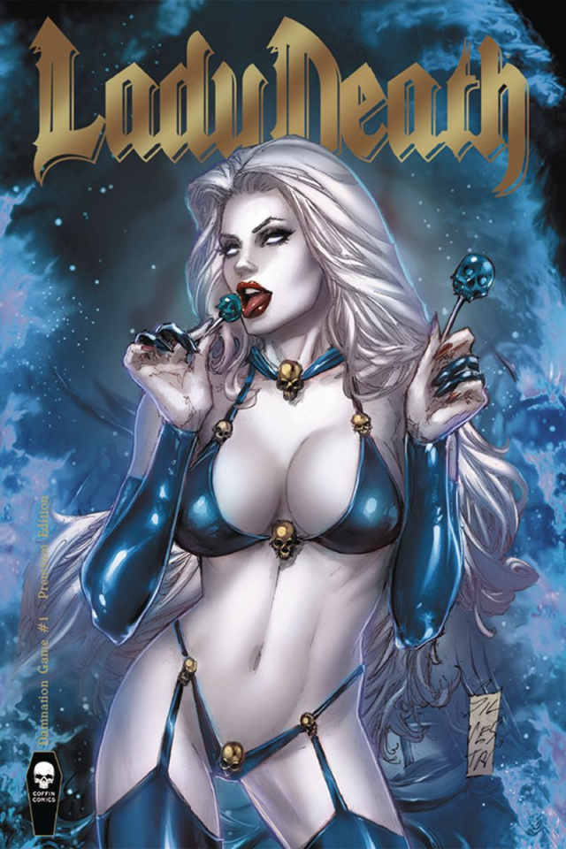 Lady Death: Damnation Game #1 (Premium Foil Silvestri Cover)