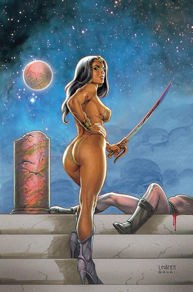 Dejah Thoris vs. John Carter of Mars #3 (Linsner Virgin Cover)