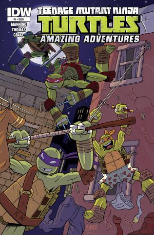 Teenage Mutant Ninja Turtles: Amazing Adventures #4 (Subscription Cover)