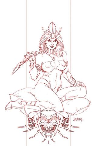 Dejah Thoris #3 (Linsner Rare Martian Red Cover)