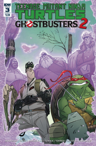 Teenage Mutant Ninja Turtles / Ghostbusters 2 #3 (Schoening Cover)